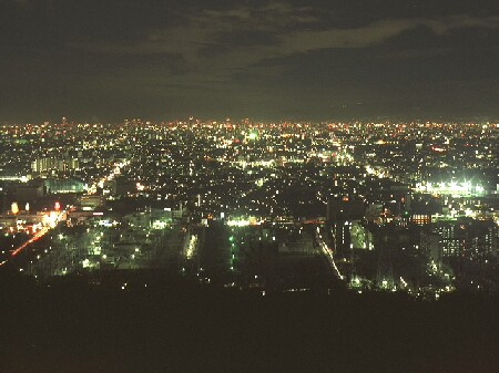 阪奈道路の夜景