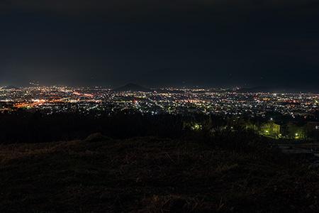 しあわせの森公園の夜景