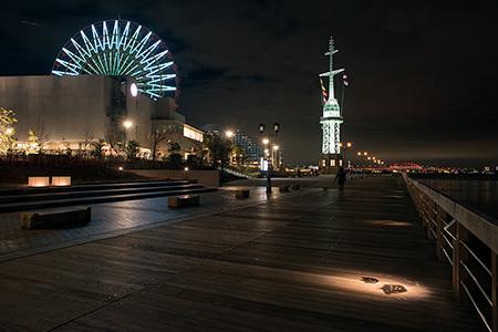 神戸ハーバーランド ハーバーウォークの夜景