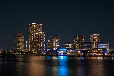 晴海大橋の夜景