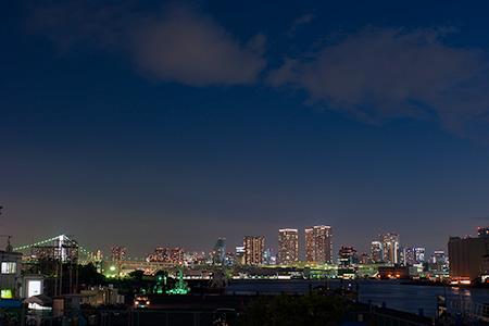 ザ・晴海レジデンス前公園の夜景