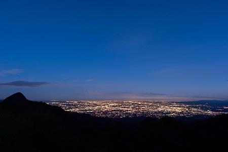 榛名山の夜景