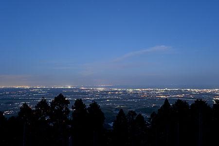 長谷山の夜景
