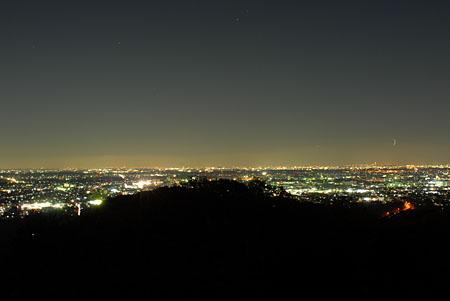 八菅山展望台の夜景