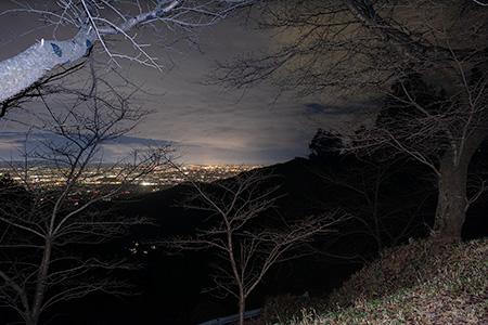 畑 七曲展望所の夜景