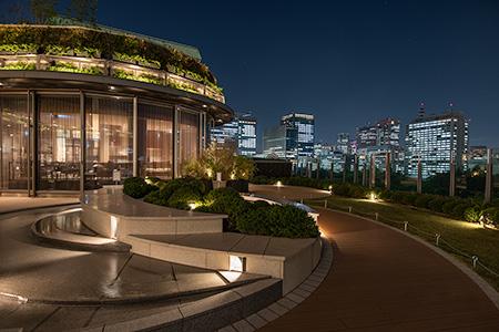 東京ミッドタウン日比谷 パークビューガーデンの夜景
