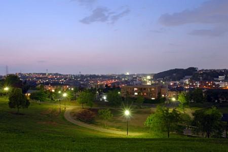東山田公園の夜景
