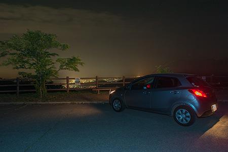 ポケットパークひじの夜景