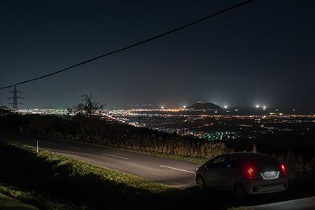 きじひき高原 キャンプ場近くの夜景