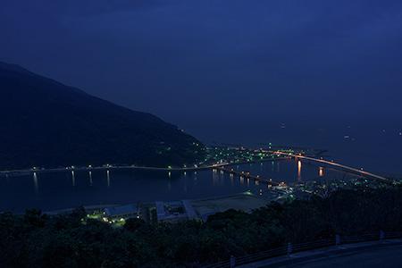 肱川あらし展望公園の夜景