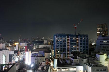 ヒカリエ スカイロビーの夜景