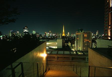 六本木ヒルズ コンプレックス屋上庭園の夜景