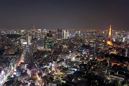 六本木ヒルズ 東京シティビューの夜景