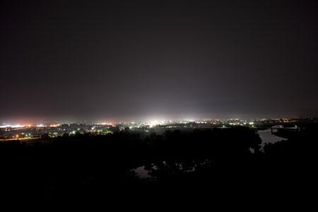 姫神公園の夜景