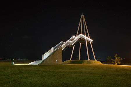 比美乃江公園 展望台の夜景