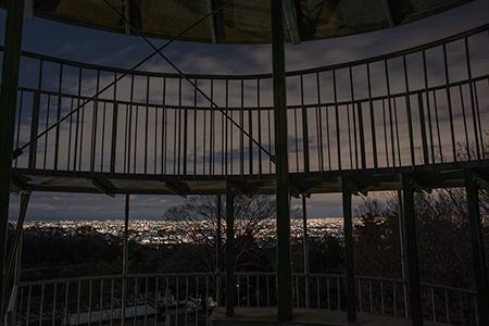 日の丸展望台 五月山ドライブウェイの夜景