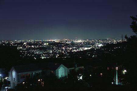 平山城址の夜景