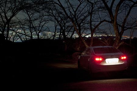 久野霊園の夜景