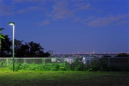 久末城法谷公園の夜景