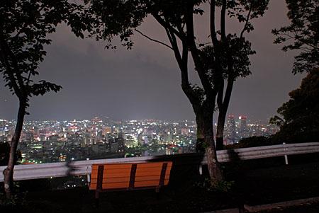 筆山公園の夜景 (高知県高知市) ...
