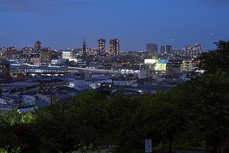 日吉公園の夜景