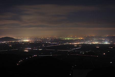 肥前犬山城の夜景