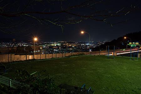 帆柱ふもと公園の夜景