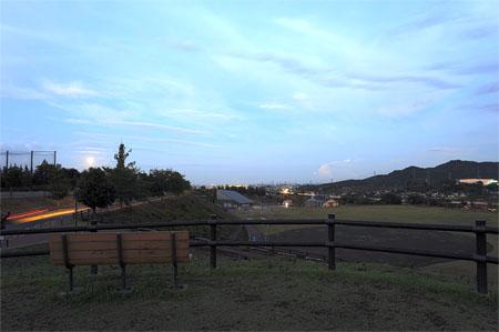 北部運動公園の夜景
