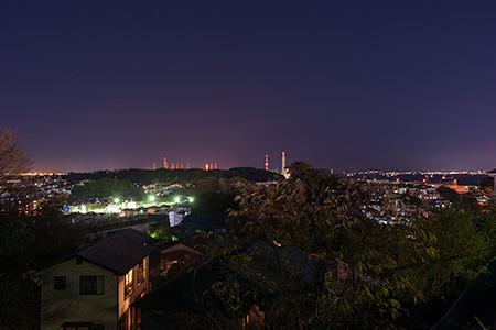 本牧山頂公園 本牧荒井の丘の夜景