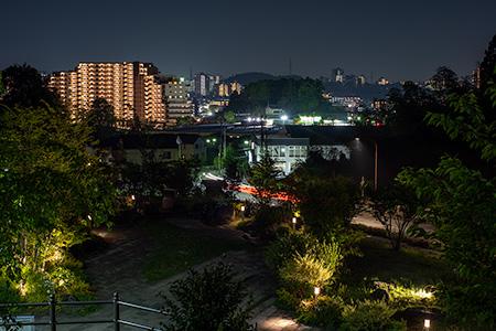 堀之内東山もりみの公園の夜景