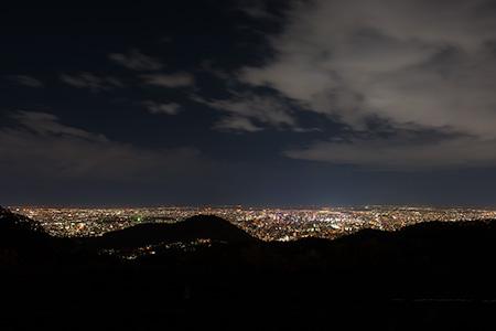 幌見峠展望駐車場の夜景