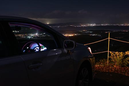 星上山展望台の夜景