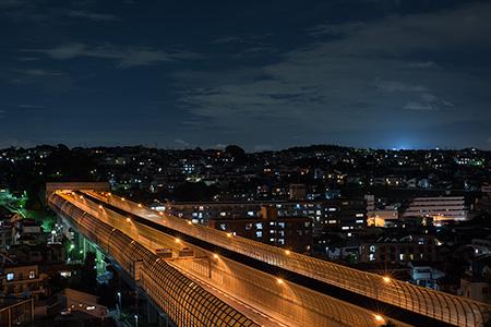 星川3丁目階段の夜景