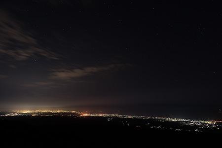 宝達山の夜景