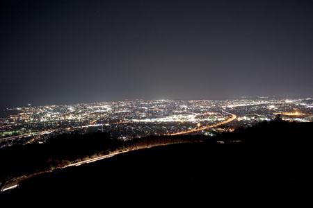 笛吹段公園の夜景