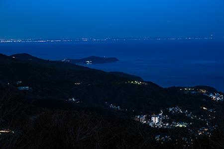 滝知山展望台-東 伊豆スカイラインの夜景