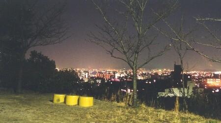 船岡山公園の夜景