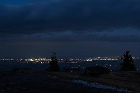 ふるさと公園の夜景