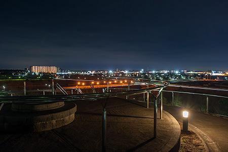 牧の原公園 ひょうたん山の夜景