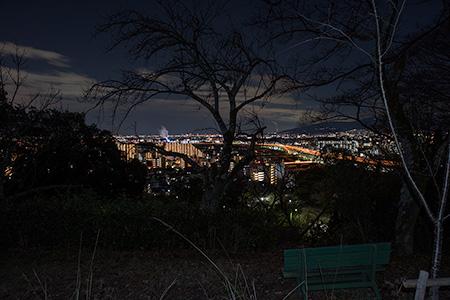 一望台 五月山ドライブウェイの夜景