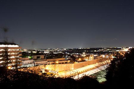 市ヶ尾第五公園の夜景