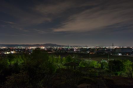 櫟本高塚公園の夜景