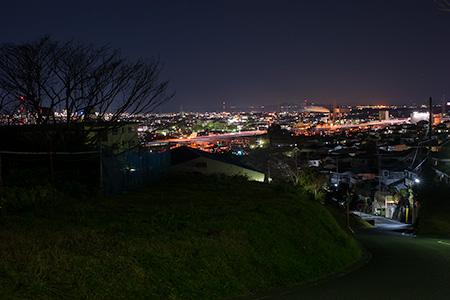市の坂公園の夜景