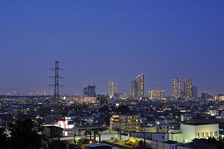 井田伊勢台公園の夜景