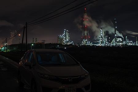 出光精油所の夜景