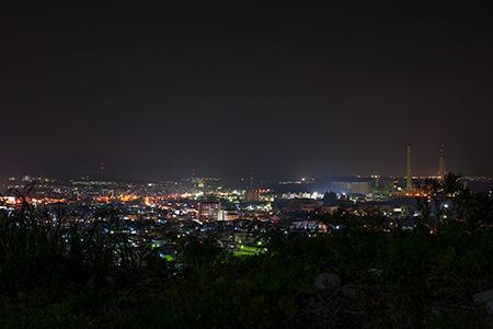 伊波城跡の夜景