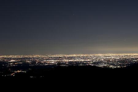 飯盛峠の夜景