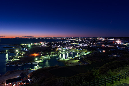 飯岡刑部岬の夜景