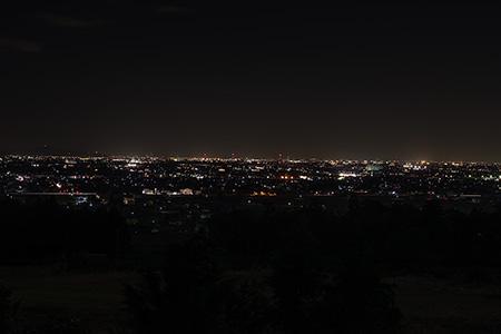 池田ふれあい街道の夜景