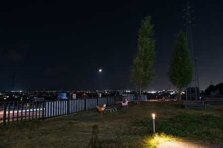 道の駅 池田温泉の夜景